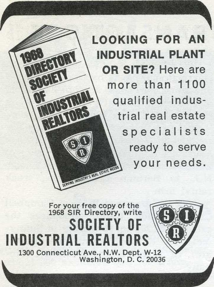 1961 S.I.R Advertisement