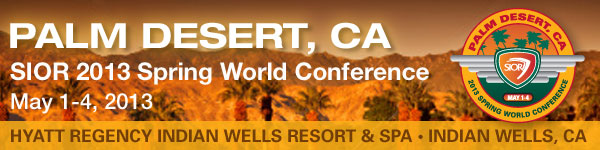 Spring World Conference - Indian Wells CA, May 1-4, 2013